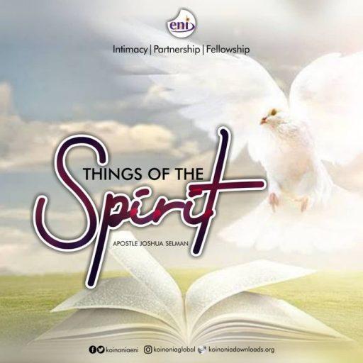 THINGS OF THE SPIRIT-KOINONIA