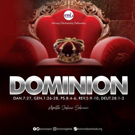 Apostle Joshua Selman - Dominion