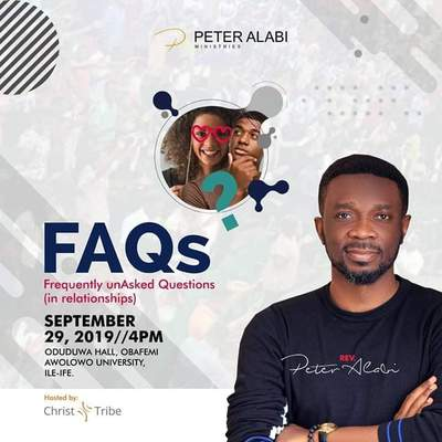 Frequently unAsked Questions (FAQs) in Relationships - Pastor Peter Alabi